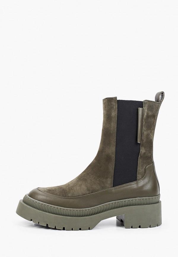 женские высокие ботинки euros style, хаки