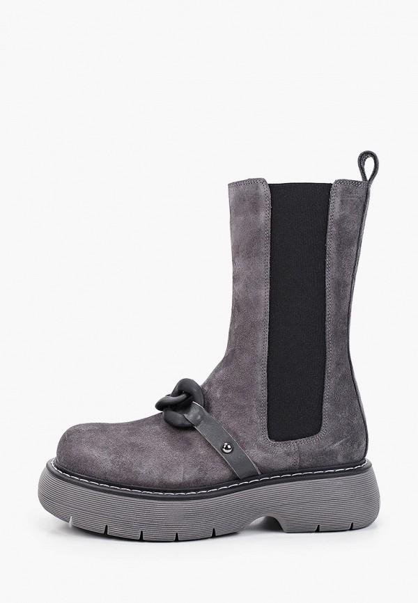 женские ботинки-челси euros style, серые
