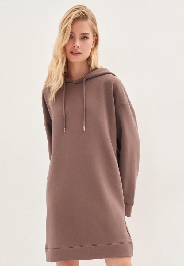 женское платье zarina, коричневое