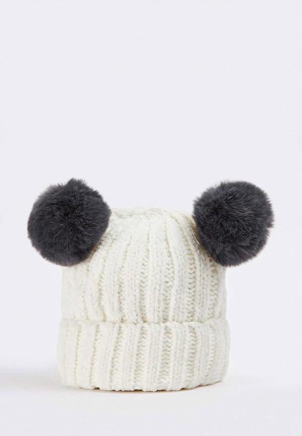 женская шапка terranova, белая
