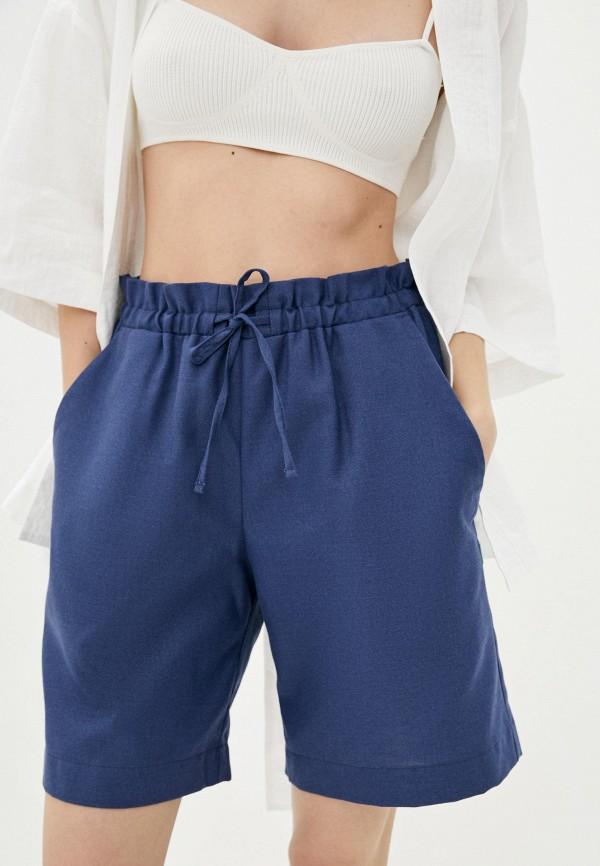женские повседневные шорты silence, синие