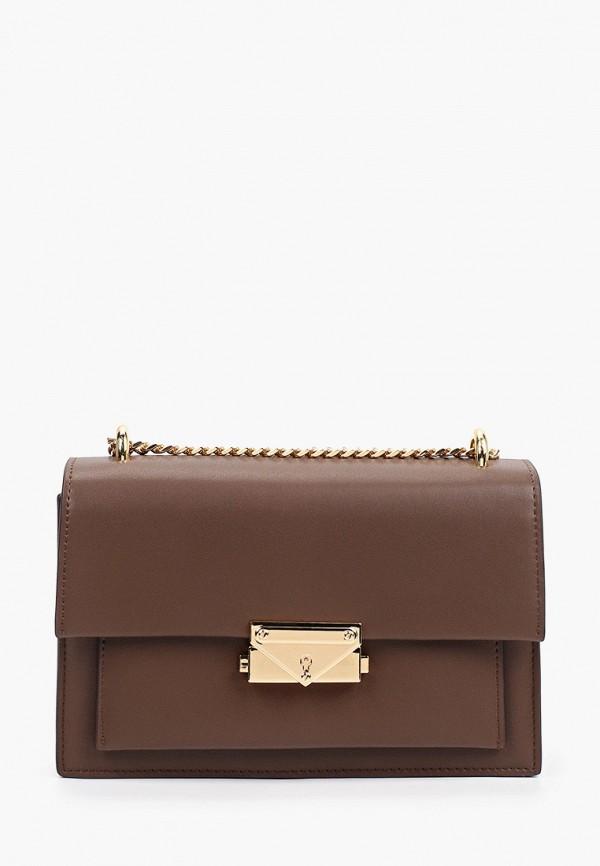 женская сумка через плечо pazolini, коричневая