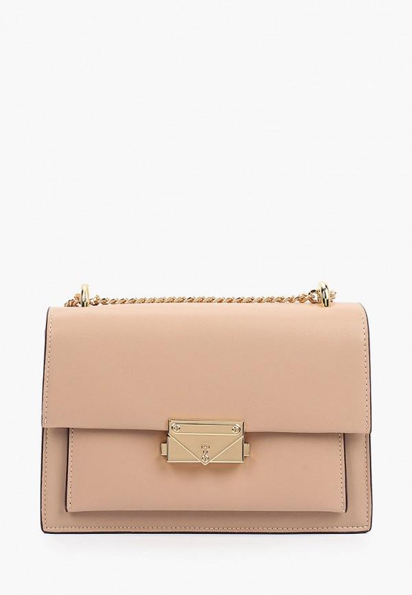женская сумка через плечо pazolini, бежевая