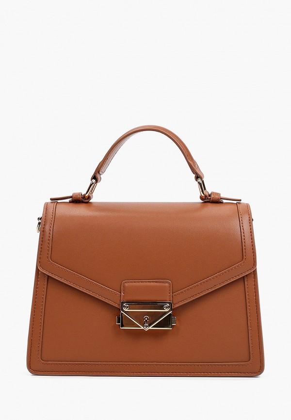 женская сумка с ручками pazolini, коричневая