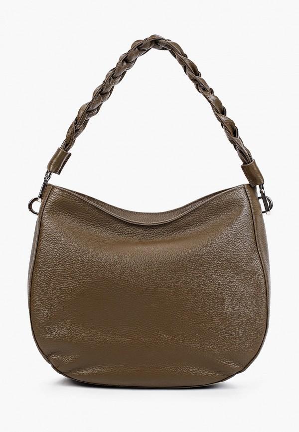 женская сумка с ручками afina, хаки