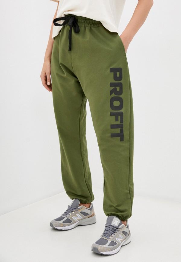 женские спортивные брюки profit, зеленые