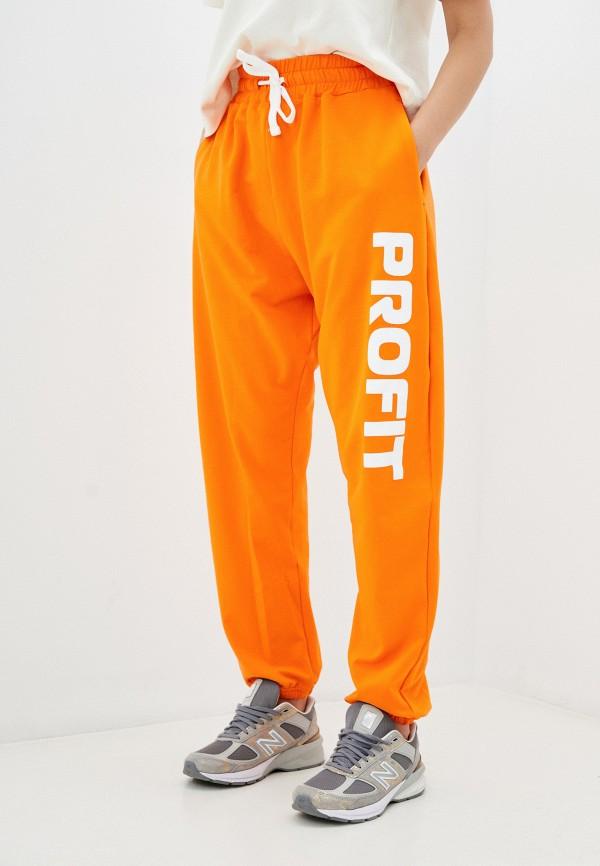 женские спортивные брюки profit, оранжевые