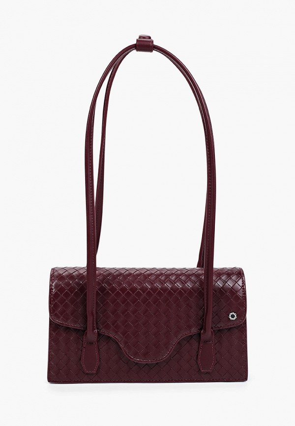 женская сумка с ручками tuffoni, бордовая