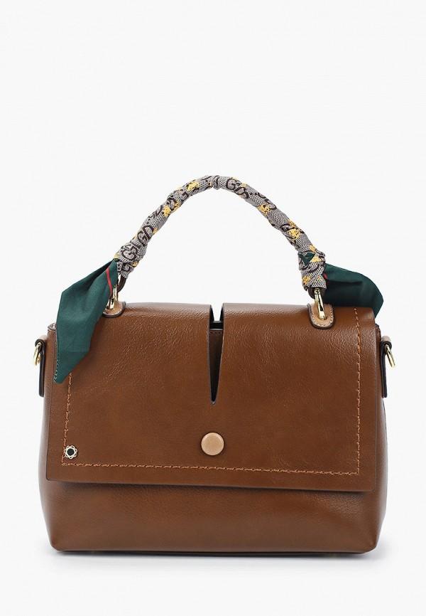 женская сумка с ручками tuffoni, коричневая