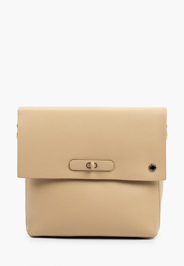 женская сумка через плечо tuffoni, коричневая