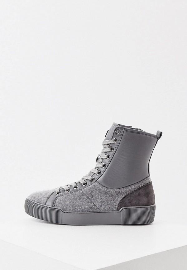 женские высокие ботинки hogl, серые