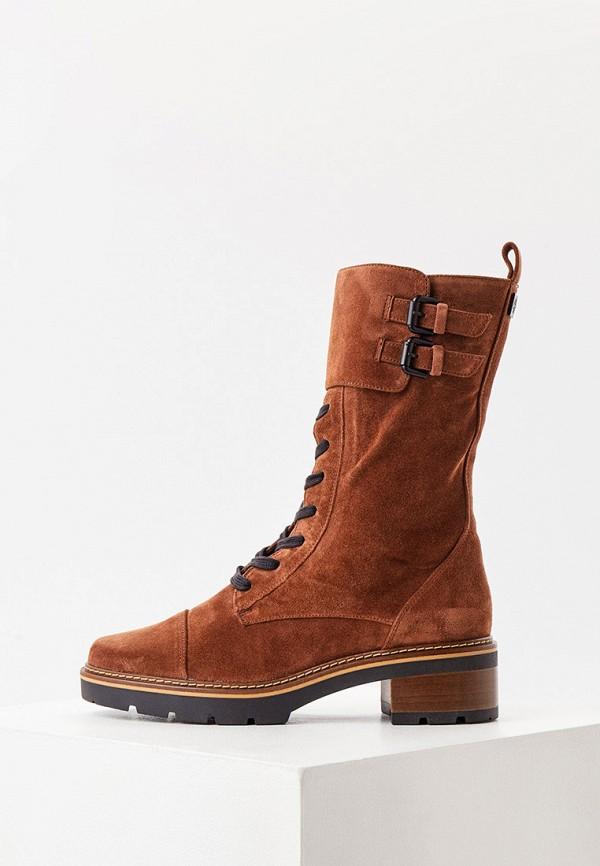 женские высокие ботинки hogl, коричневые