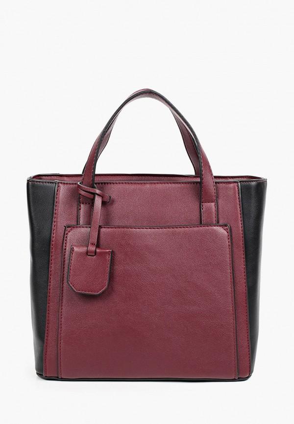 женская сумка с ручками instreet, бордовая