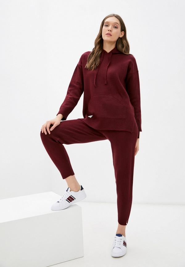 женский вязаные костюм vladi collection, бордовый