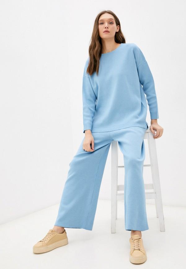 женский вязаные костюм vladi collection, голубой