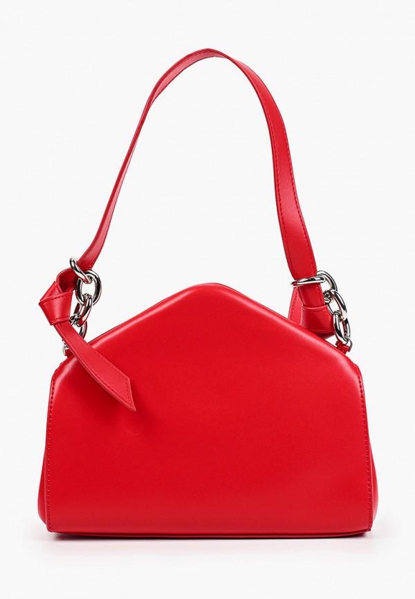 женская сумка с ручками bocciolo, красная