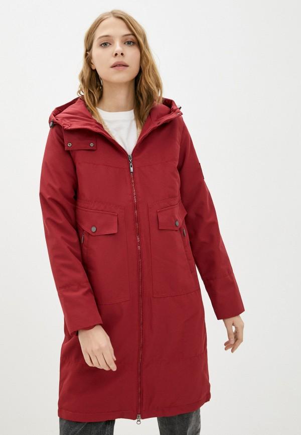 женская утепленные куртка hoops, бордовая
