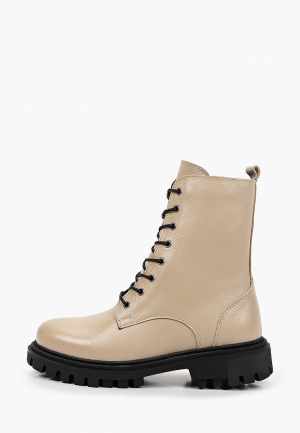 женские высокие ботинки shoiberg, бежевые