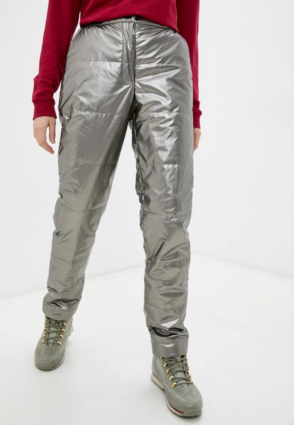 женские утепленные брюки baon, серебряные