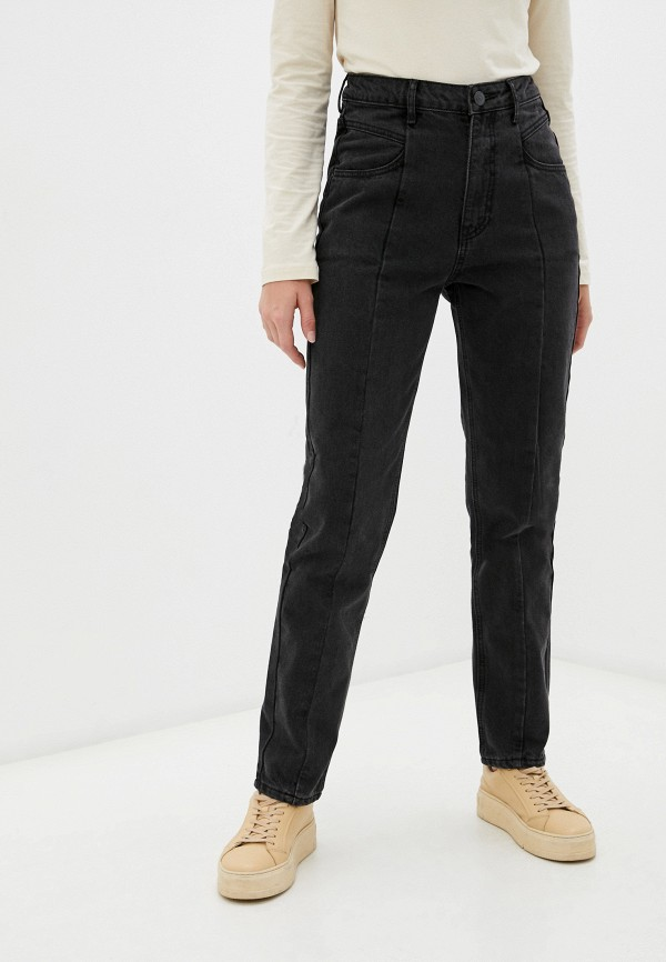 женские джинсы-мом o'stin, черные