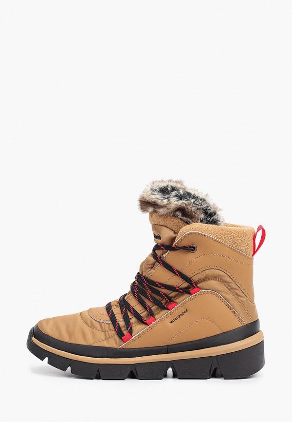 женские высокие ботинки columbia, бежевые