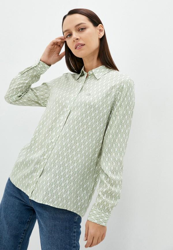 женская блузка с длинным рукавом u.s. polo assn, зеленая