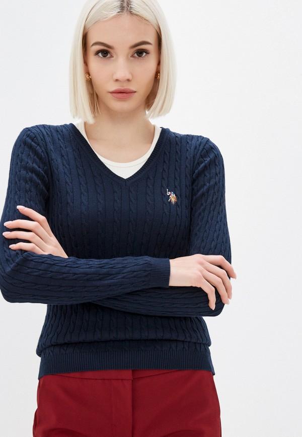 женский пуловер u.s. polo assn, синий