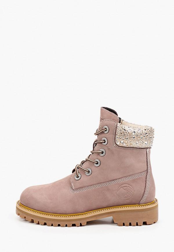 женские ботинки mascotte, розовые