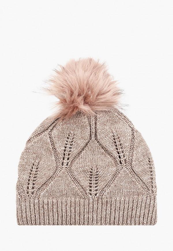 женская шапка mascotte, коричневая