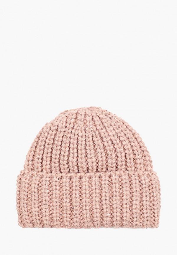 женская шапка mascotte, розовая