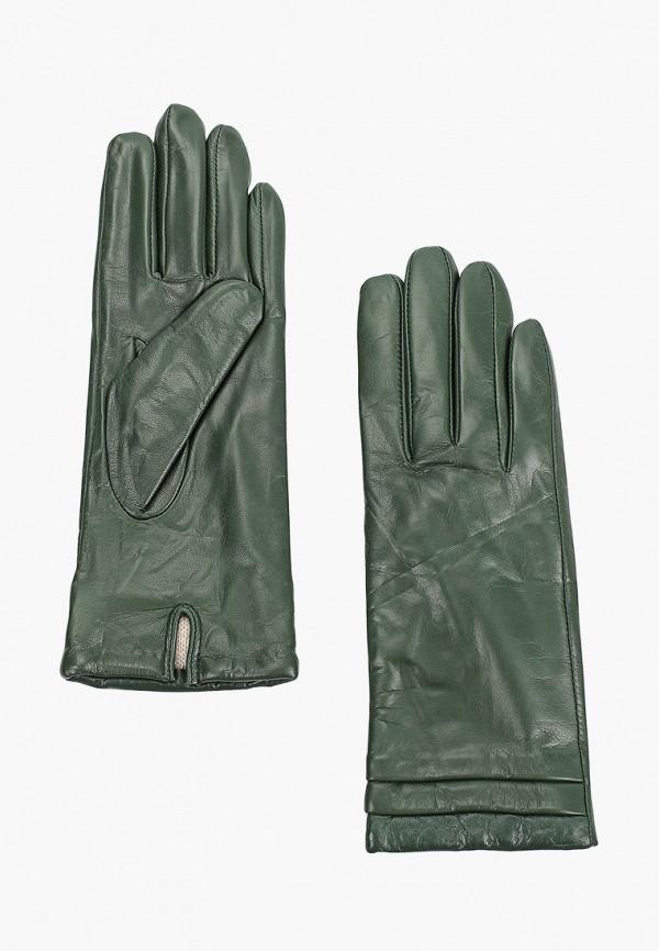 женские кожаные перчатки vitacci, зеленые