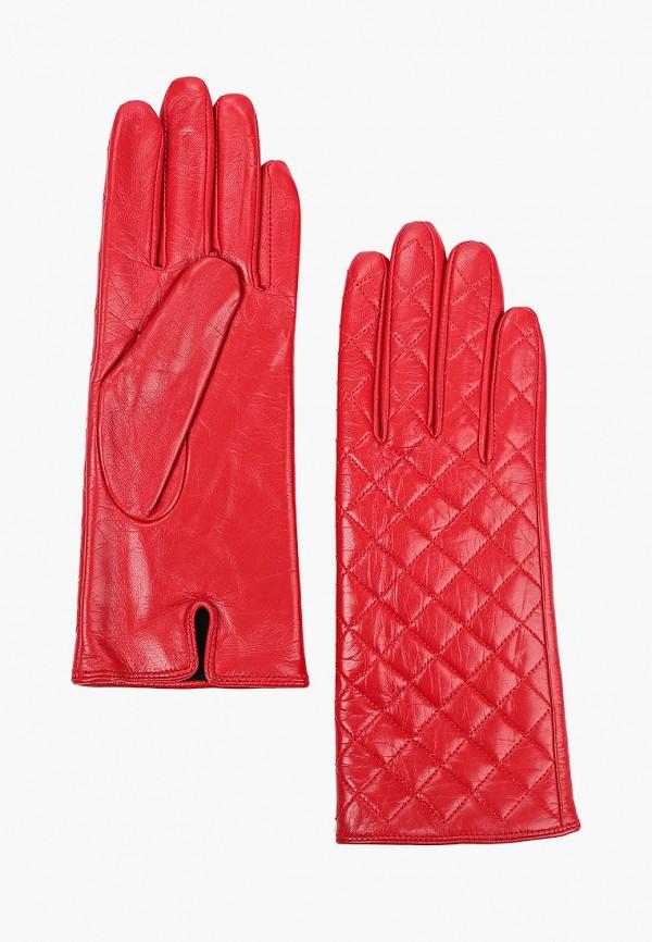 женские кожаные перчатки vitacci, красные