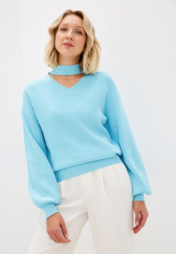 женский пуловер tenera, голубой