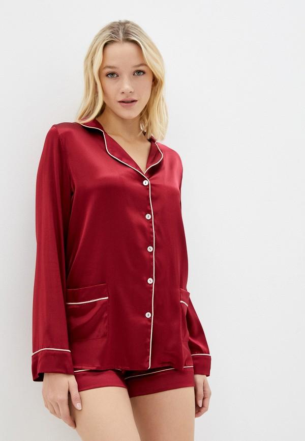 женская пижама primrose, бордовая