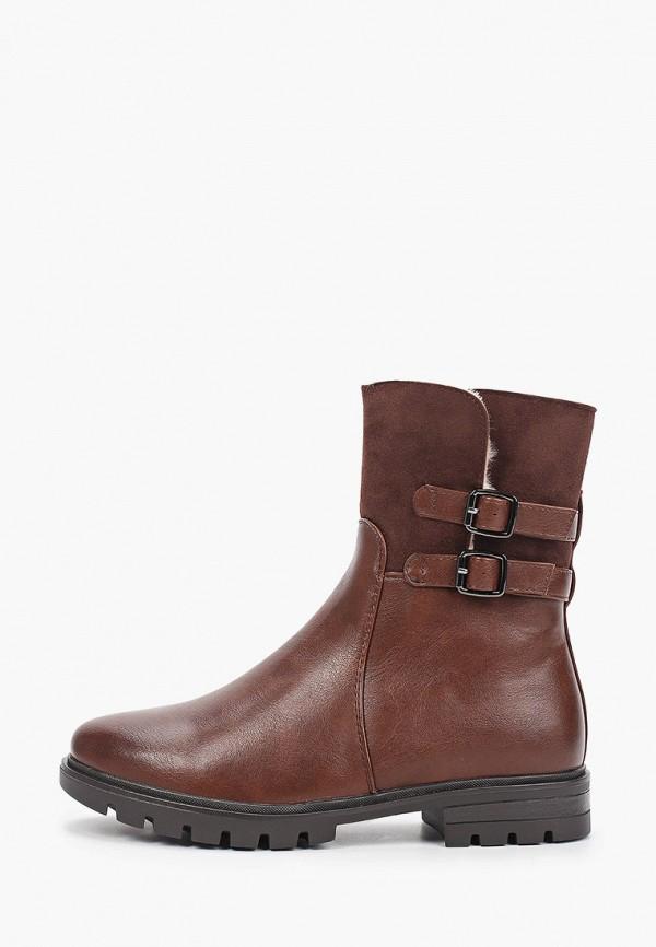 женские высокие ботинки zenden, коричневые