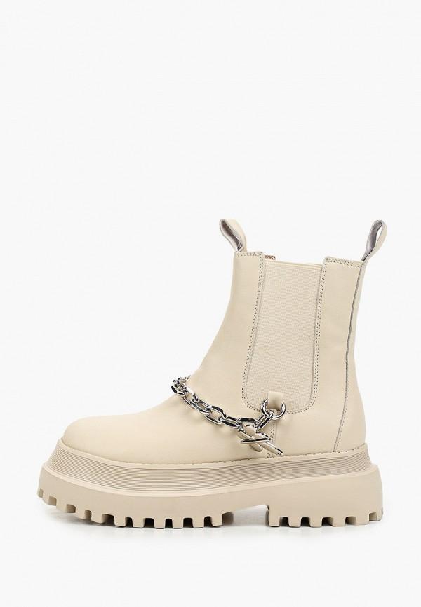 женские ботинки-челси sprincway, бежевые