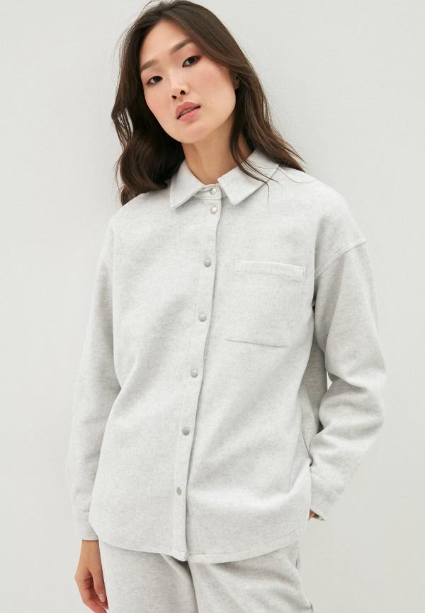 женская рубашка с длинным рукавом zarina, серая