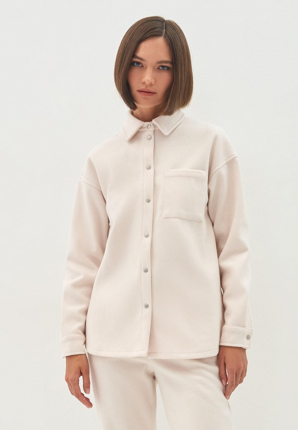 женская рубашка с длинным рукавом zarina, бежевая
