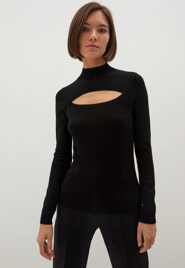 женская водолазка zarina, черная