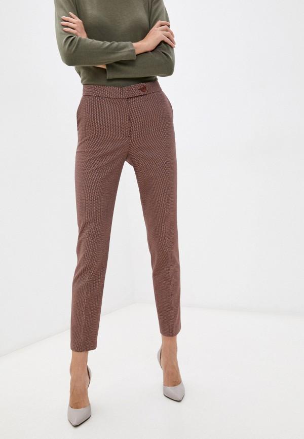 женские зауженные брюки nelva, коричневые