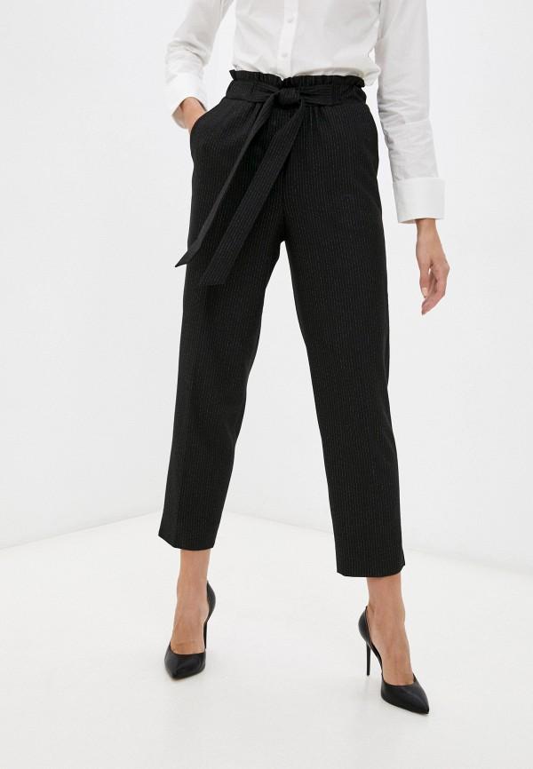 женские зауженные брюки nelva, черные