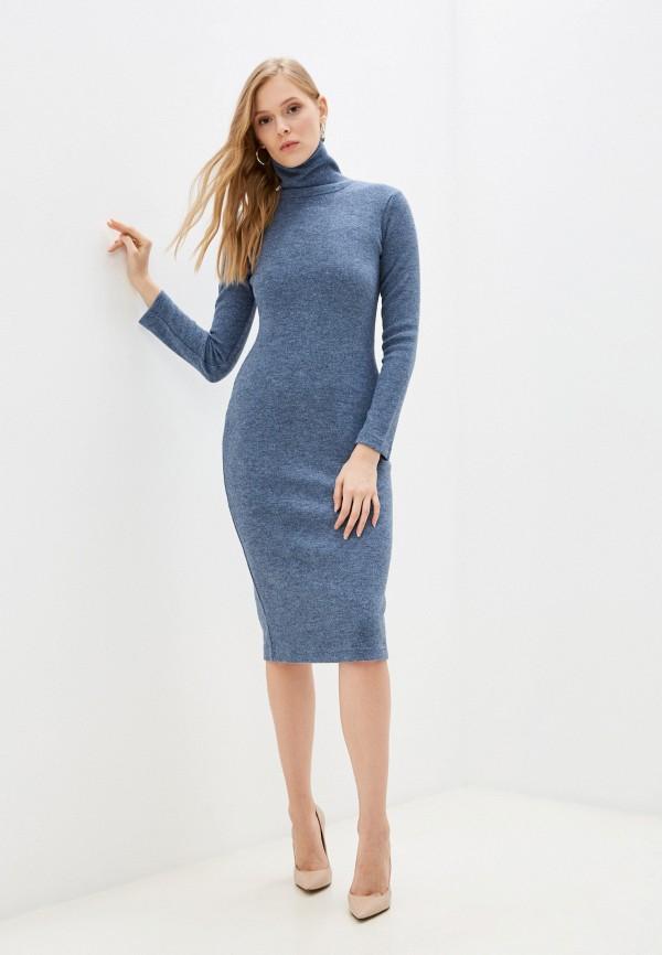 женское платье-свитеры elle land, голубое