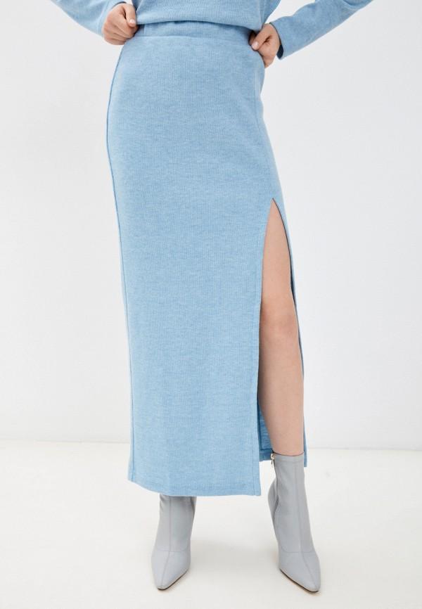 женская узкие юбка elle land, голубая