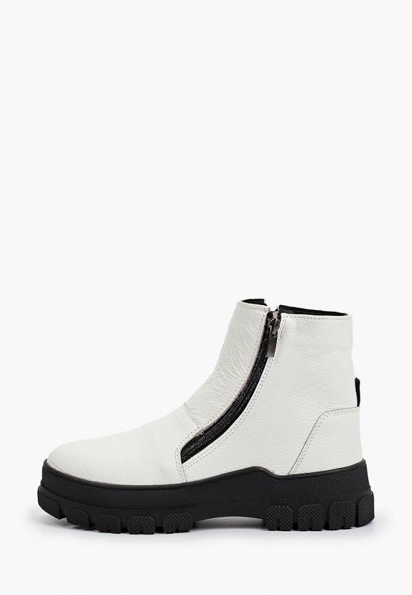 женские высокие ботинки makfly, белые