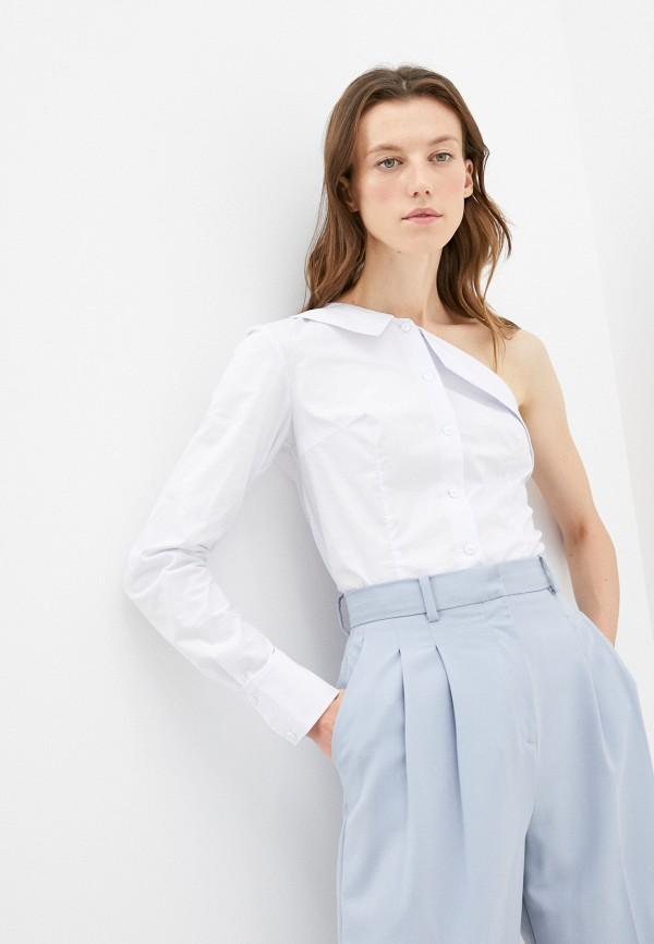 женская блузка с открытыми плечами m,a,k you are beautiful, белая
