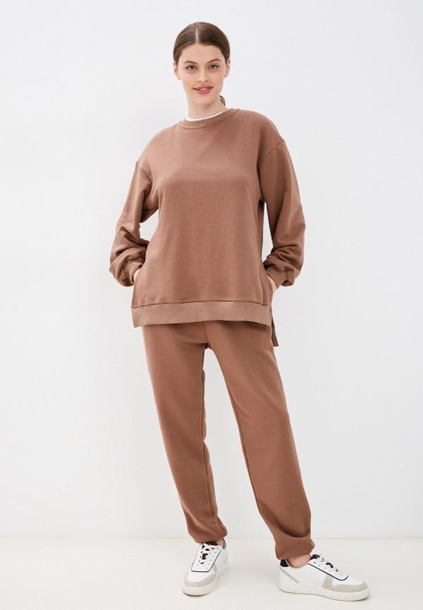 женский спортивный костюм m,a,k you are beautiful, коричневый
