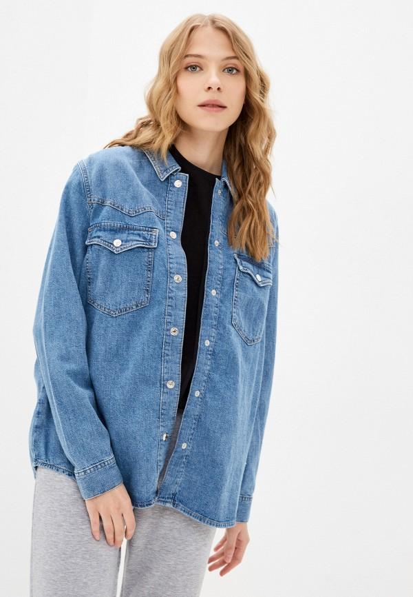 Рубашка джинсовая Mavi голубого цвета