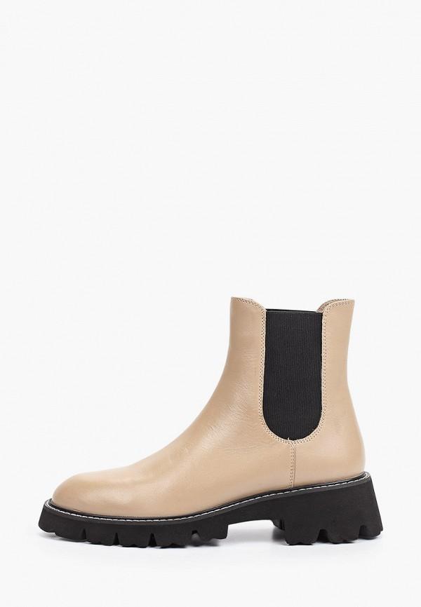 женские ботинки-челси giotto, бежевые