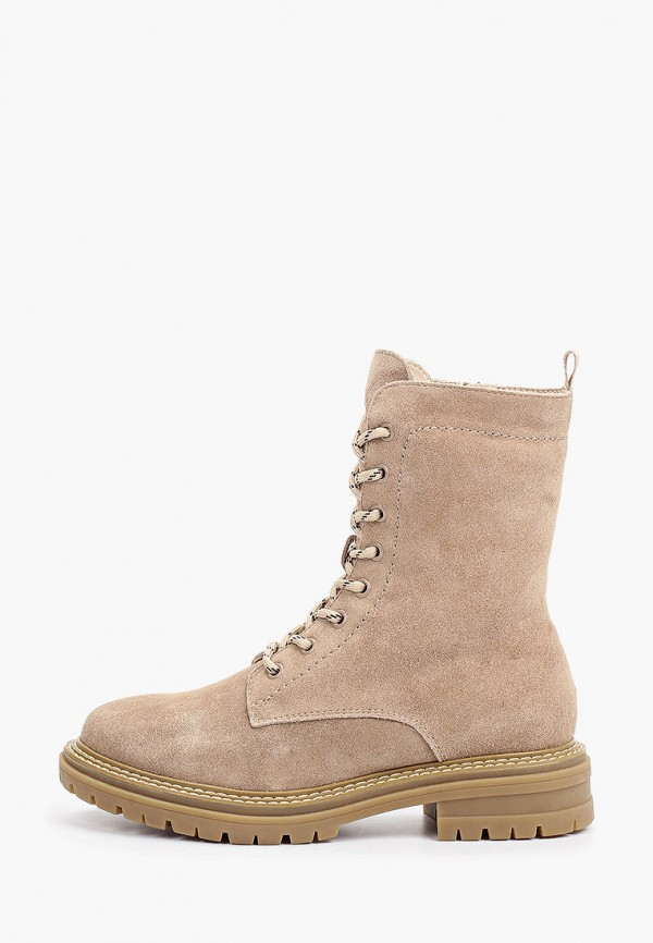 женские высокие ботинки francesco donni, бежевые