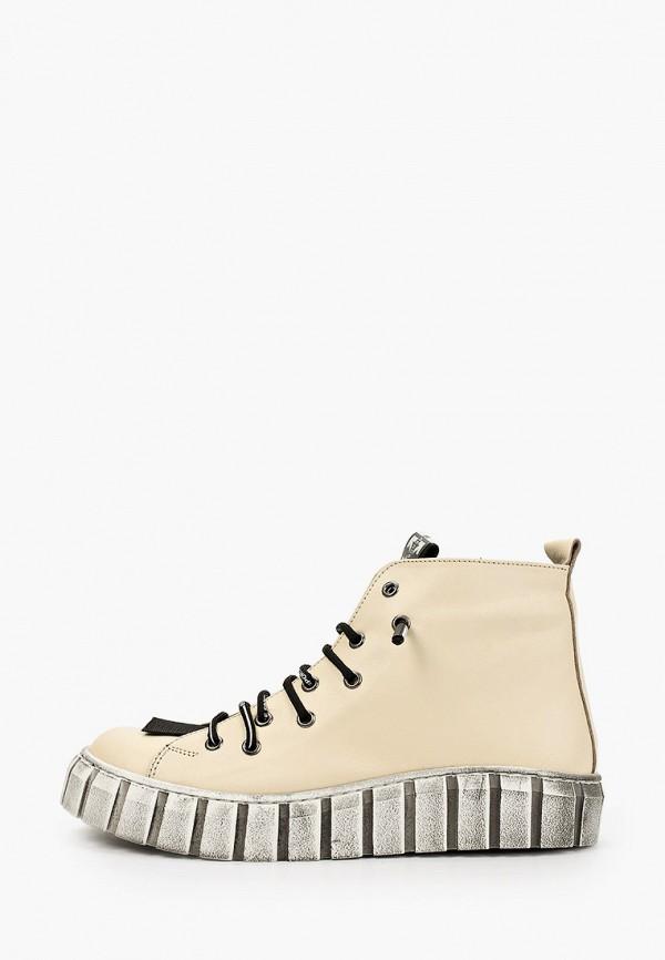 женские высокие ботинки ascalini, бежевые